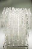 Glazen buis in laboratorium Stock Foto