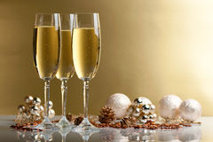 Glazen champagne Royalty-vrije Stock Foto's