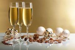 Glazen champagne stock foto