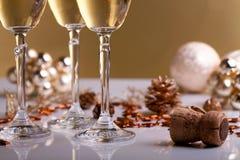 Glazen champagne Royalty-vrije Stock Foto