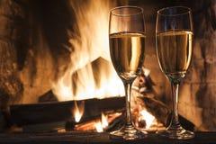 Glazen champagne Stock Fotografie