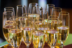Glazen champagne stock foto's