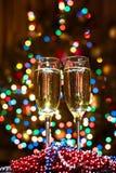 Glazen champagne Royalty-vrije Stock Afbeeldingen