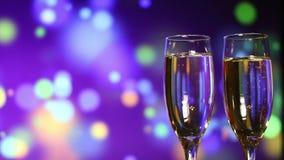 Glazen champagne stock footage