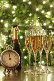 Glazen champagne voor Nieuwjaren Royalty-vrije Stock Foto