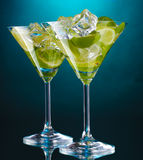 Glazen cocktails Royalty-vrije Stock Afbeelding