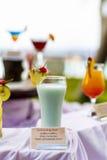 Glazen cocktails Stock Afbeelding