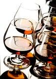 Glazen cognac royalty-vrije stock afbeelding
