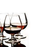 Glazen cognac Stock Foto's