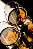 Glazen cognac royalty-vrije stock afbeeldingen