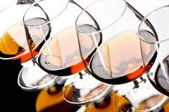 Glazen cognac stock foto