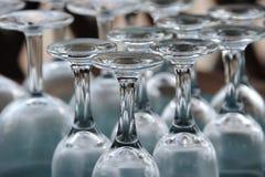 Glazen in een bepaalde orde Stock Afbeelding