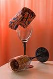 Glazen en banden Stock Afbeeldingen