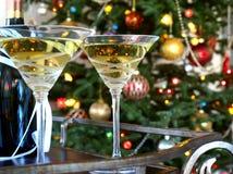 Glazen en wijnfles Stock Foto