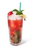 Glazen fruitdranken met ijsblokjes Royalty-vrije Stock Foto