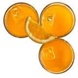Glazen jus d'orange Stock Fotografie