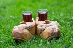 Glazen met alcoholische drank royalty-vrije stock foto