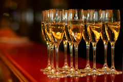 Glazen met champagne royalty-vrije stock afbeelding