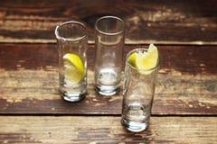 Glazen met citroen Stock Fotografie
