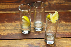 Glazen met citroen Royalty-vrije Stock Foto