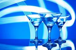 Glazen met cocktail in een nachtclub Royalty-vrije Stock Foto's
