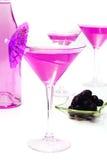 Glazen met cocktail en olijven Royalty-vrije Stock Fotografie