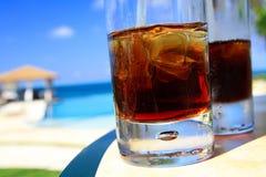 Glazen met cocktails de Caraïben royalty-vrije stock foto
