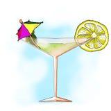 Glazen met gemengde dranken Royalty-vrije Stock Afbeelding