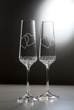 Glazen met harten Royalty-vrije Stock Afbeelding