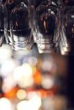 Glazen met onscherpe achtergrond Royalty-vrije Stock Afbeelding