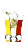 Glazen met sap en citroen Royalty-vrije Stock Afbeelding