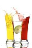 Glazen met sap en citroen Royalty-vrije Stock Foto's