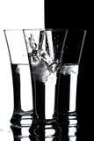 Glazen met water Royalty-vrije Stock Foto