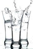 Glazen met water Royalty-vrije Stock Afbeeldingen