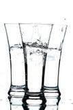 Glazen met water en ijs Royalty-vrije Stock Afbeelding