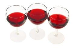 Glazen met wijn Stock Foto