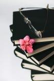 Glazen op de boeken Stock Afbeelding