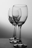 Glazen op wit Royalty-vrije Stock Afbeeldingen