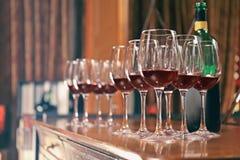 Glazen rode wijn Royalty-vrije Stock Fotografie