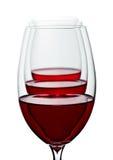 Glazen rode wijn Stock Fotografie