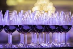 Glazen rode wijn Royalty-vrije Stock Afbeeldingen