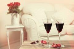 Glazen Rode Wijn Royalty-vrije Stock Foto