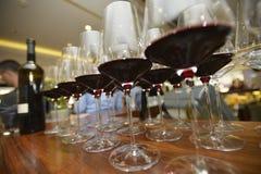 Glazen rode wijn Royalty-vrije Stock Afbeelding