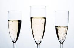 Glazen van Champagne Stock Foto's