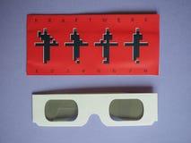 Glazen van het Kraftwerk 3D overleg Stock Foto's