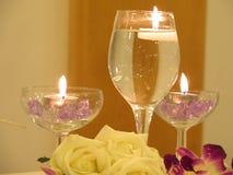 Glazen van kaarsen Royalty-vrije Stock Afbeeldingen