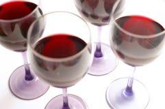Glazen van rood Royalty-vrije Stock Foto's