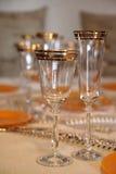 Glazen van wijnglazen Stock Foto's