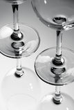 Glazen van Zwart-wit Stock Foto's
