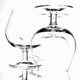 Glazen voor alcohol Kunstfoto Royalty-vrije Stock Foto